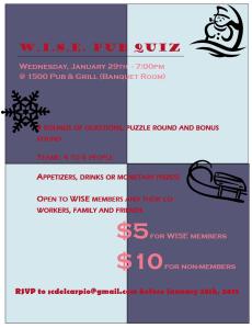 WISE Pub Quiz - January 29 2013